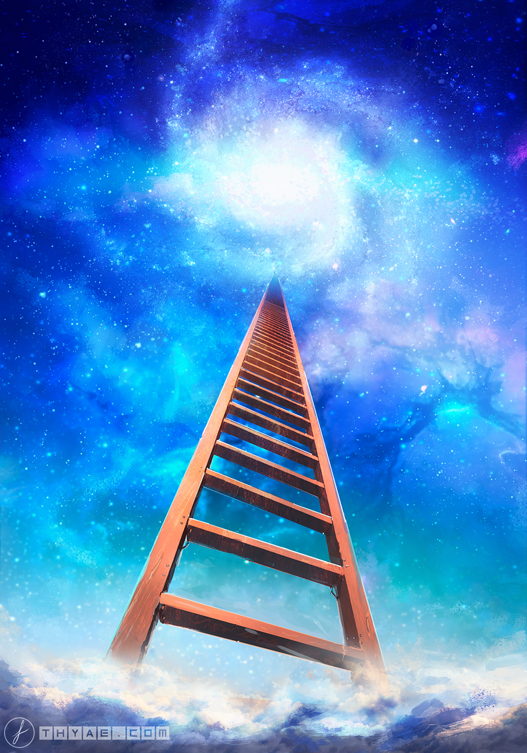 Illustration of a Stairway to the stars