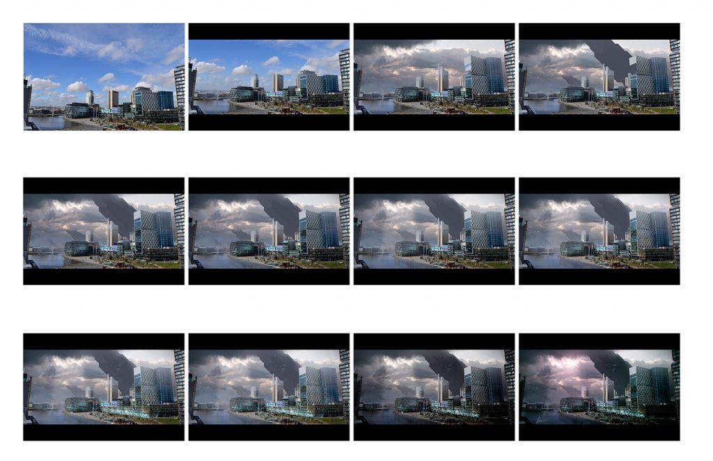 process of matte painting by Francisco Champac